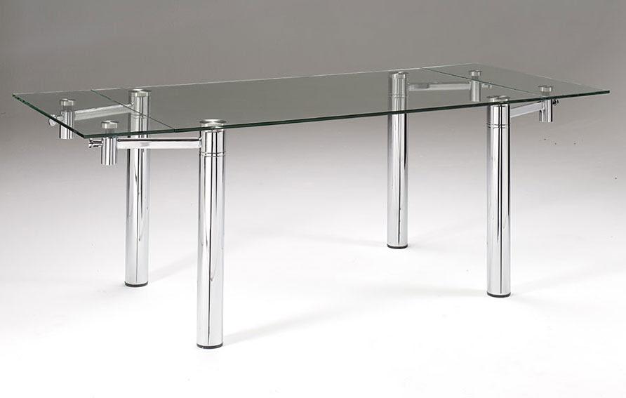 Dormitorio muebles modernos mesa de comedor cristal for Mesas comedor extensibles modernas baratas