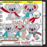 Cold Koalas Clipart - CU