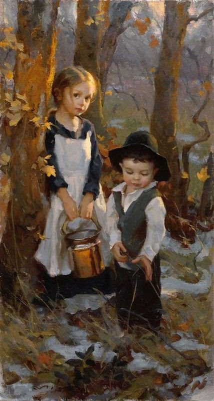 Pioneer children by Mike Malm