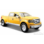 Ford Mighty F350 Super Duty Pick-up, Yellow - Maisto 31213YL - 1/24 Scale Diecast Model Toy Car