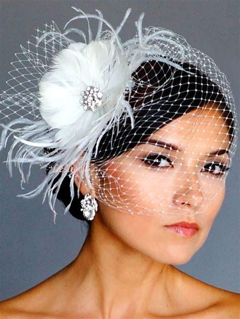 Vintage Style Brooch Fascinator Headpiece & Birdcage