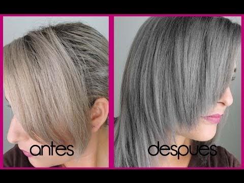 Cabello gris o plata - Color gris acero ...