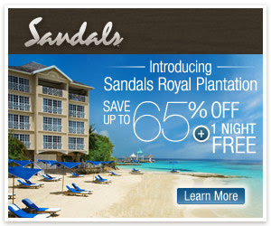 Get one night free plus save up to 65% at Sandals