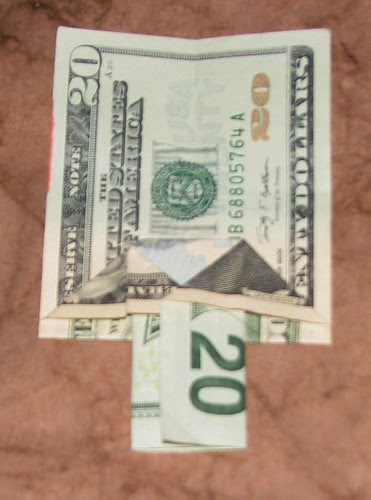 origami Money Christmas Tree 011