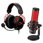 HyperX Cloud Alpha Headset & QuadCast Microphone Bundle