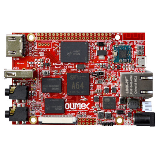A64-OLinuXino Open Source Hardware board with 64-bit Cortex-A53 processor is in released