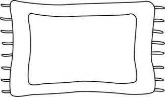 rug clipart black and white 7