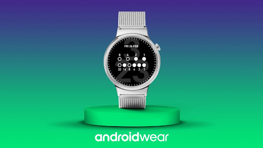 "Android Wear on Twitter: ""Decimal numbers are so mainstream. Read time bit by bit with the Binary Watch Face! ➞  """