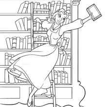 Dibujos Para Colorear Bella En La Biblioteca Eshellokidscom