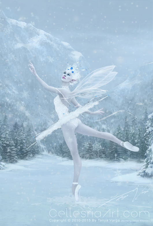 CellesriaArt.com — New finished painting! Title: Snow Dancer Just...