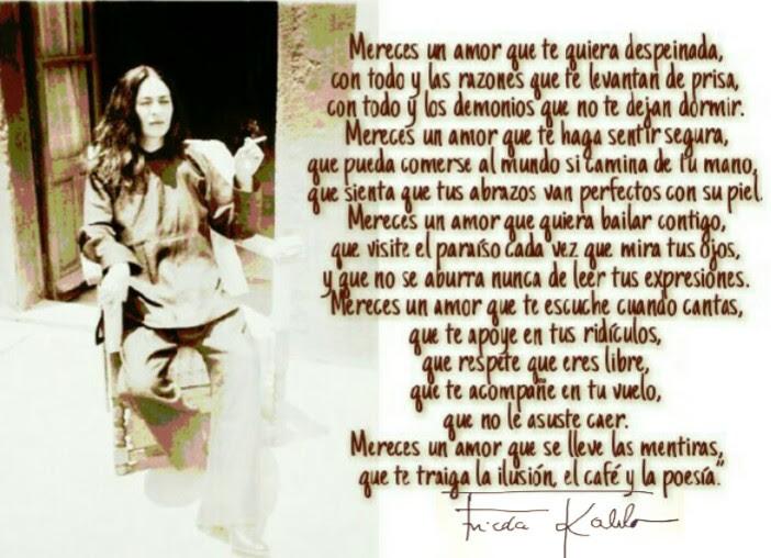 Frasesamor Frida Kahlo Frases Mereces Un Amor