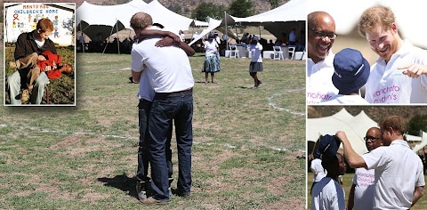 Prince Harry reunites with the African boy he gave blue gum boots 11years ago