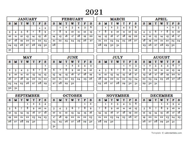 Calendar Labs 2021 | Calendar 2021