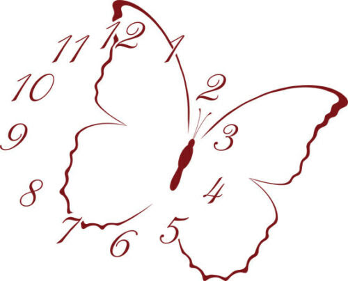 Home Decor Items Wandtattoo Uhr Mit Uhrwerk Wanduhr Schmetterling Mit Zahlen Kinderzimmer Home Furniture Diy Instituteoffinearts Co In