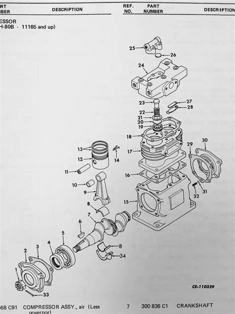 International TD15C Crawler Dozer tractor ENGINE PARTS