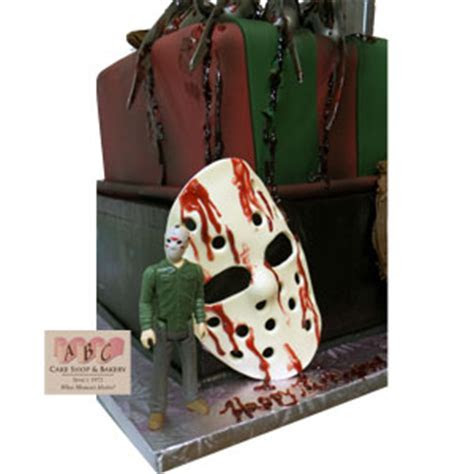 (2240) Horror Movie cake, Freddie, Jason, Mike Myers   ABC