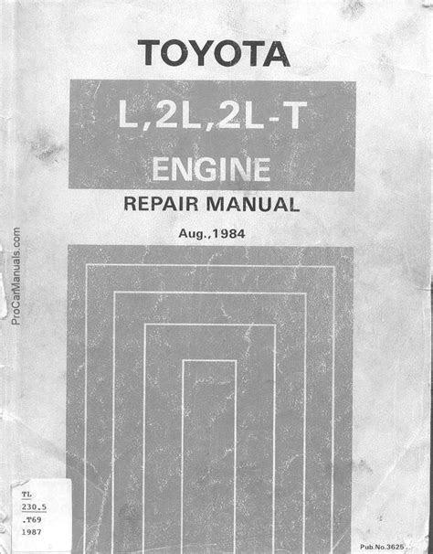 TOYOTA L 2L 2L-T ENGINE WORKSHOP SERVICE REPAIR MANUAL