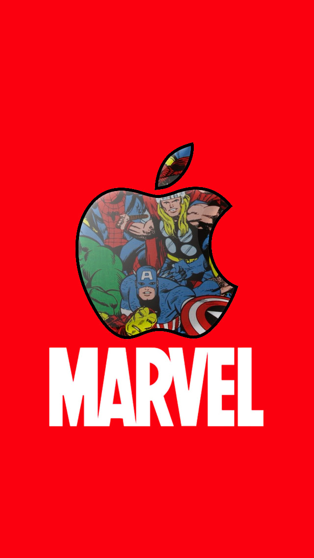 Marvel Apple iPhone 5 background. by PheksyBloo on DeviantArt