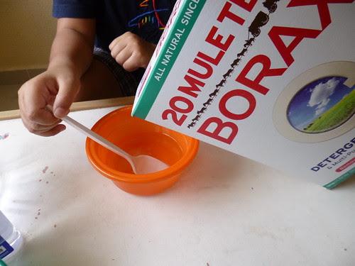 2. Mix borax