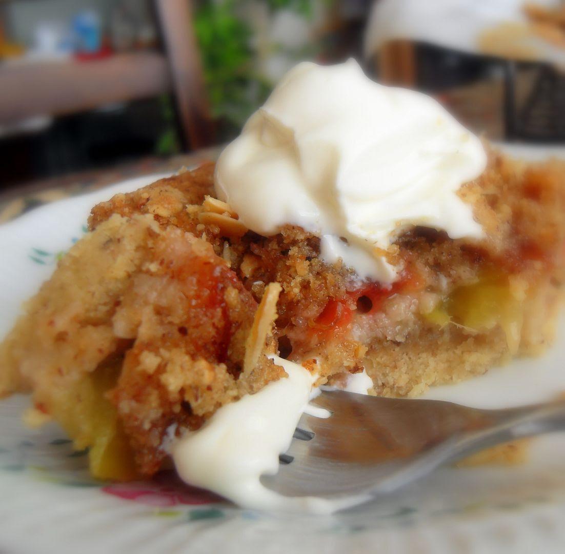 Hazelnut Kitchen: The English Kitchen: Plum And Hazelnut Crumble Slice