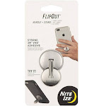 Nite Ize Flo2-11-r7 Flipout Phone Handle and Stand, Stainless Steel