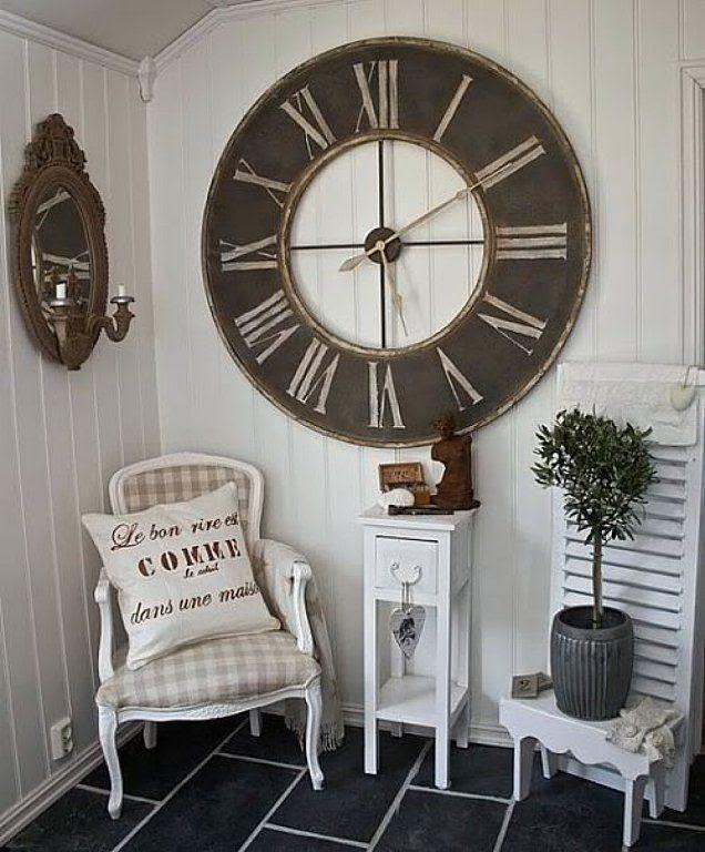 Decoracion con Reloj gigante