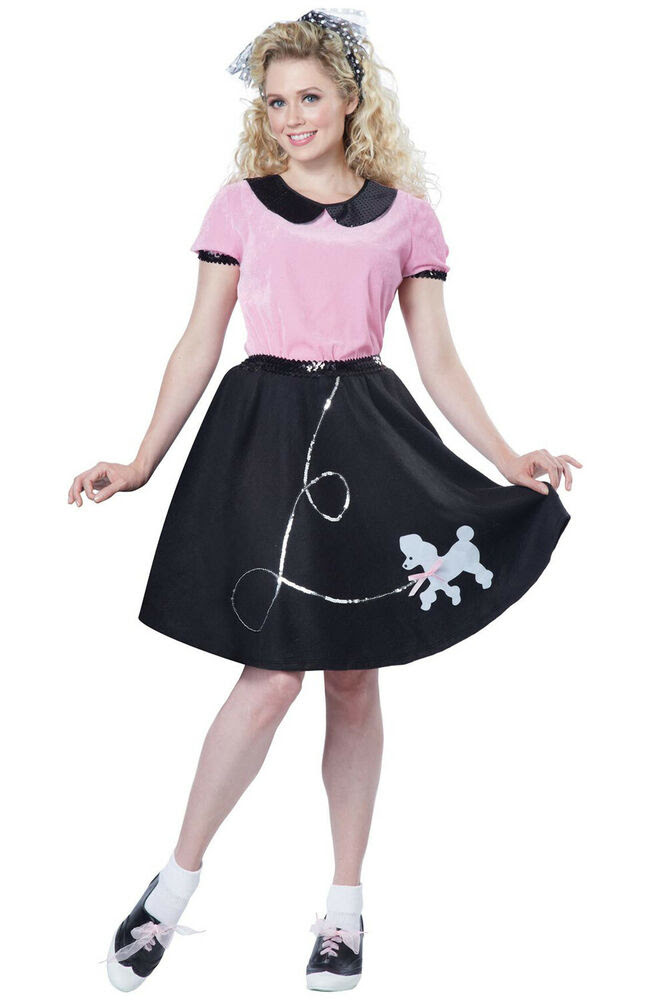 brand new adult 50's hop with poodle skirt halloween