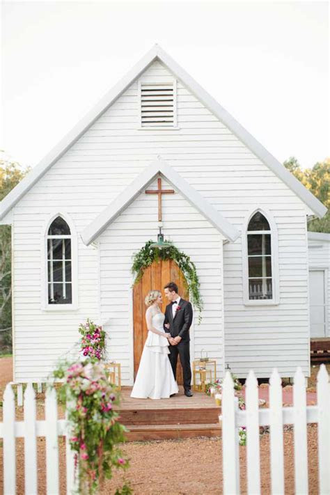 Australian Country Church Wedding Inspiration   Polka Dot