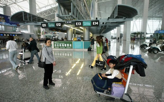 The lobby of Baiyun international airport on the outskirts of Guangzhou.