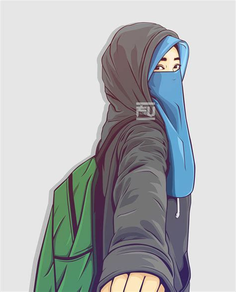 vector hijab niqab atahmadfu hijab vector niqab