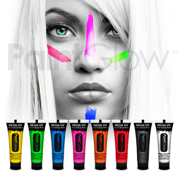Uv Face And Body Paint 8 Pack Paintglow