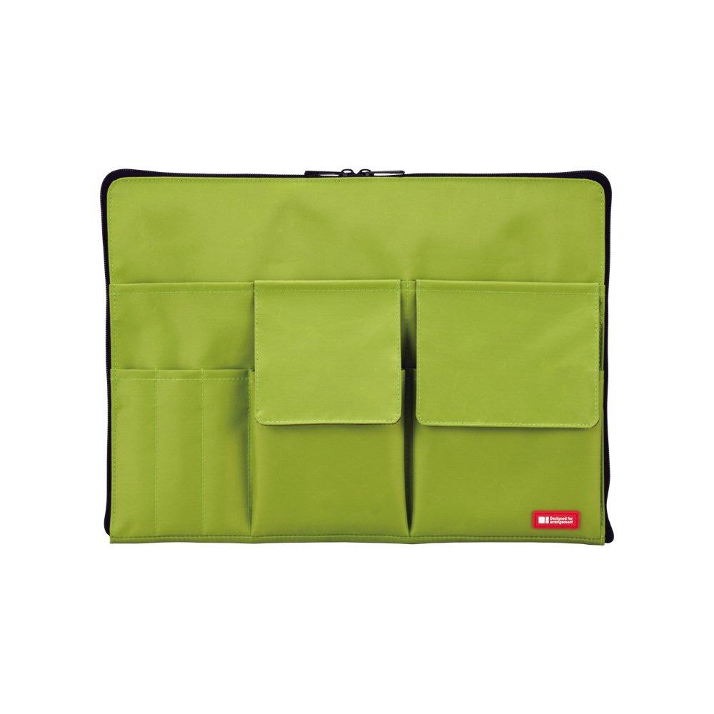 LIHITLAB バッグインバッグ A4 A7554-6 黄緑
