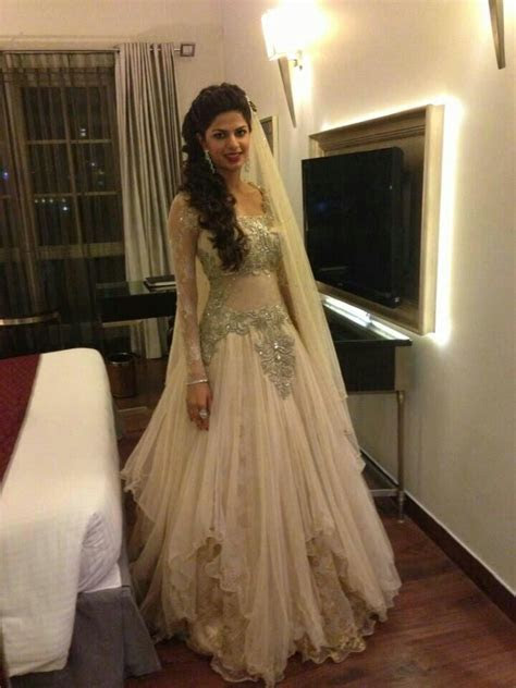 East meets West fusion bridal gown by kamaali. South Asian