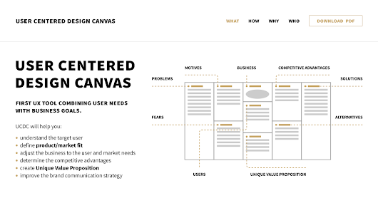 User Centered Design Canvas — First UX tool combining user needs with business goals
