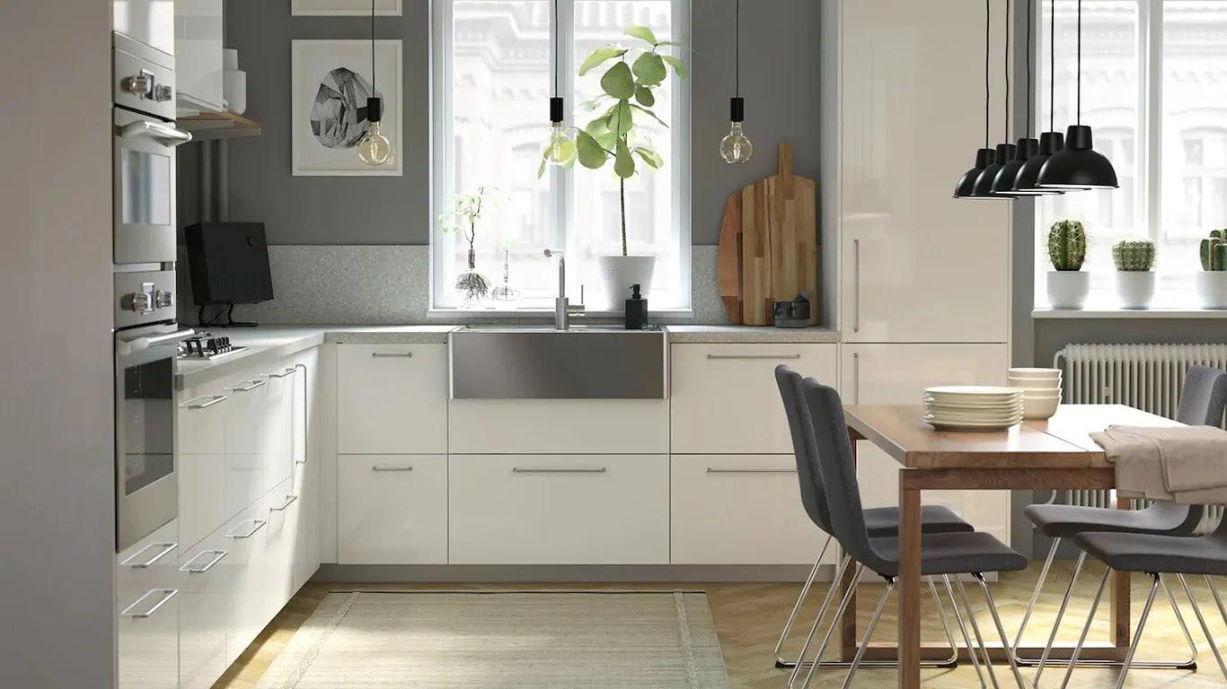 Küche Mit Waschmaschine Ikea  Ikea Faktum Küchenplanung -> L-form