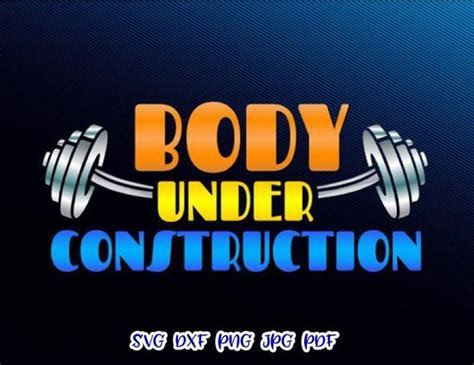 Crossfit SVG Saying Body Under Construction Gym Fitness