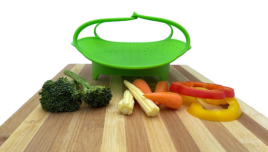 Review ~ Silicone Vegetable Steamer by Kitchen Deluxe #KitchenDeluxeSiliconeSteamer - Desafio In The City