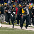 Mike Tomlin narrowly misses Jacoby Jones on return