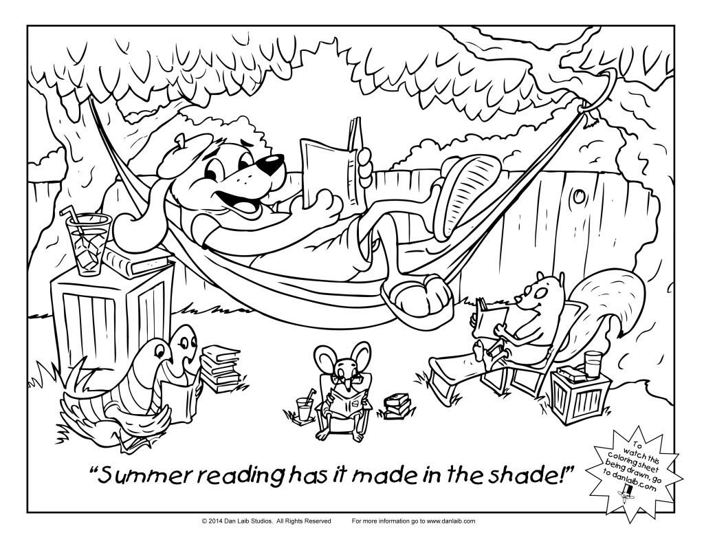 coloring sheet summer reading 1024x791
