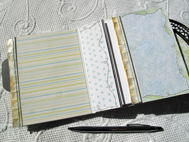 Hero Arts littlest birds notebook partly-OPEN