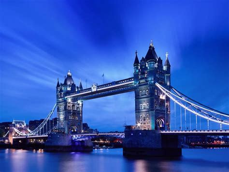 tower bridge  night uk desktop wallpaper hd