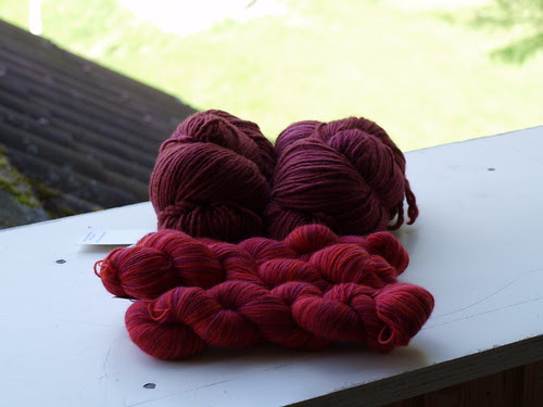 Last yarn order from July.