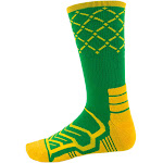 Large Basketball Compression Socks, Green/Yellow