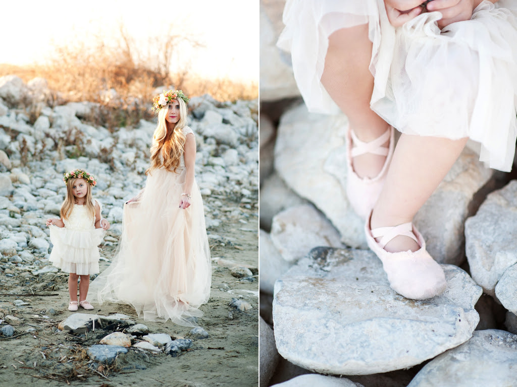 Gold Peach Mother Daughter Bridal Inspiration Featured On Style
