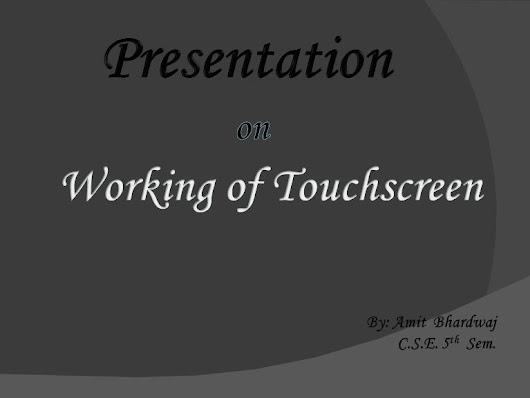 Touchscreen PPT