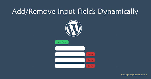 Dynamically add/remove Input Fields in WordPress Metabox using jQuery — Pradip Debnath