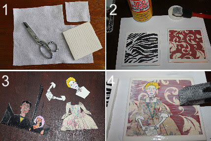 How to make collage coasters