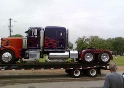 The Peterbilt truck that's been the vehicle mode for OPTIMUS PRIME in all three Transformers films.