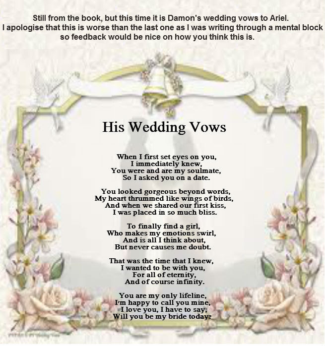 His Wedding Vows Poems By Teen Poets