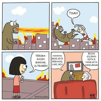 komik strip tokoh kartun tontonan anak anak